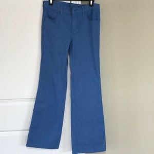 Tory Burch Leigh Flare Jeans in Mid Blue Wash